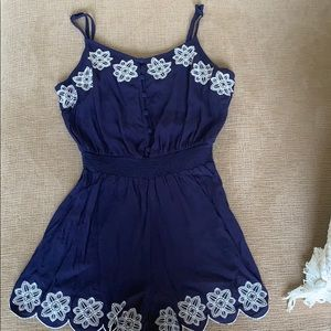 Navy romper worn only a couple of times